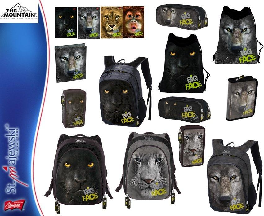 Kupić Produkty szkolne z kolekcji BIG FACE/THE MOUNTAIN - plecaki, piórniki, worki, zeszyty, segregatory, bruliony, itp.