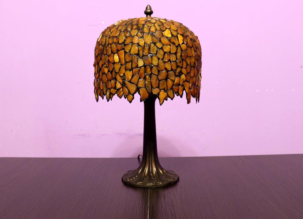 Kupić Lampa z bursztynu - wisteria