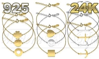 Kupić Bransoletki gwiazd celebrytki srebrne/ rodowane/ pozłacane Celebrytka 10 wzorów
