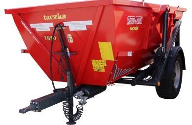 Kupić Taczka T930 uniwersalna do przewożenia różnego rodzaju materiałów, hydraulika sterowana z ciągnika, polski producent