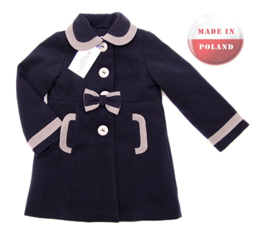 Kupić Cudowny, elegancki płaszczyk dla dziewczynki. Kolekcja NAT&TOM.