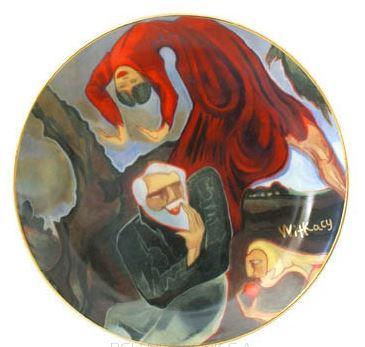 Kupić Patera 26 cm dekoracyjna, Kuszenie św. Antoniego I Patera