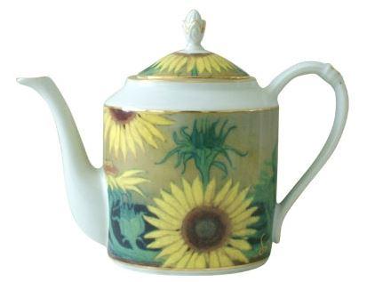 Kupić Imbryk z porcelany, Słoneczniki czajnik