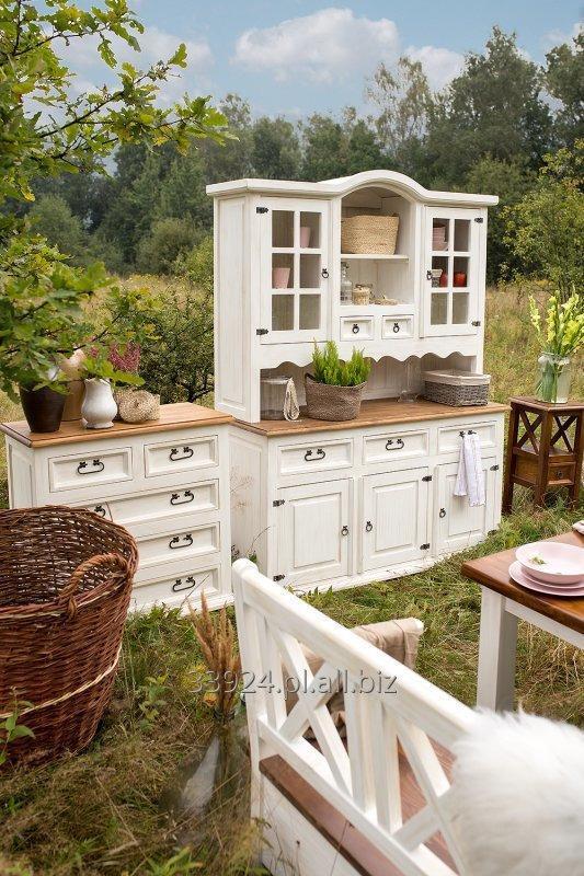 Kupić Kredens biały drewniany sosnowy lakierowany VIT 01