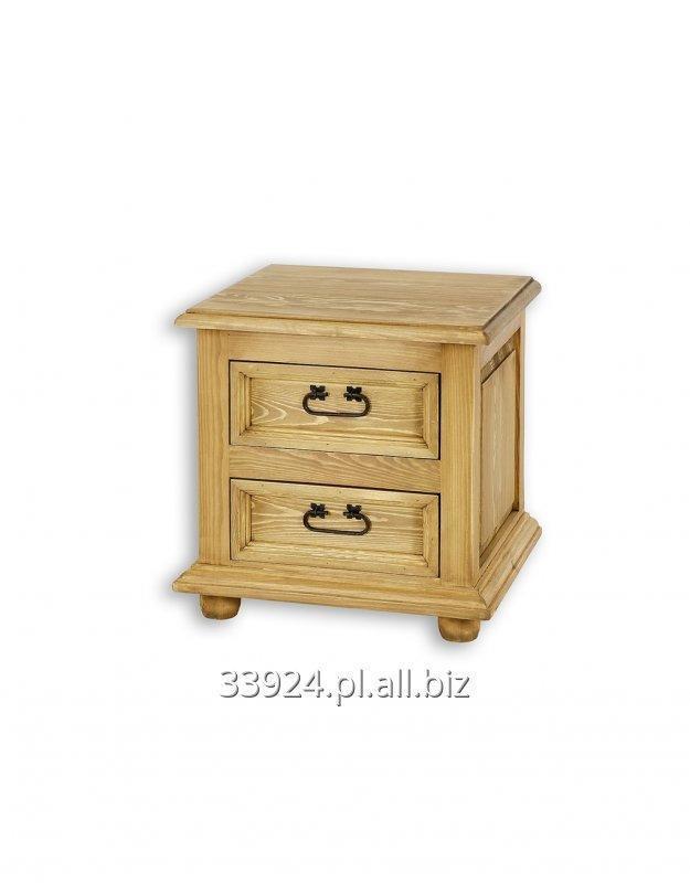 Kupić Szafka nocna drewniana sosnowa woskowana COM 12