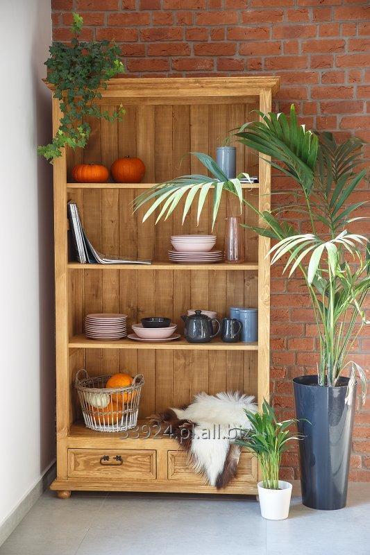 Kupić Regał drewniany sosnowy woskowany rustykalny REG 01