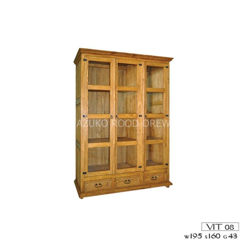 Kupić Witryna drewniana sosnowa biblioteczka VIT 08