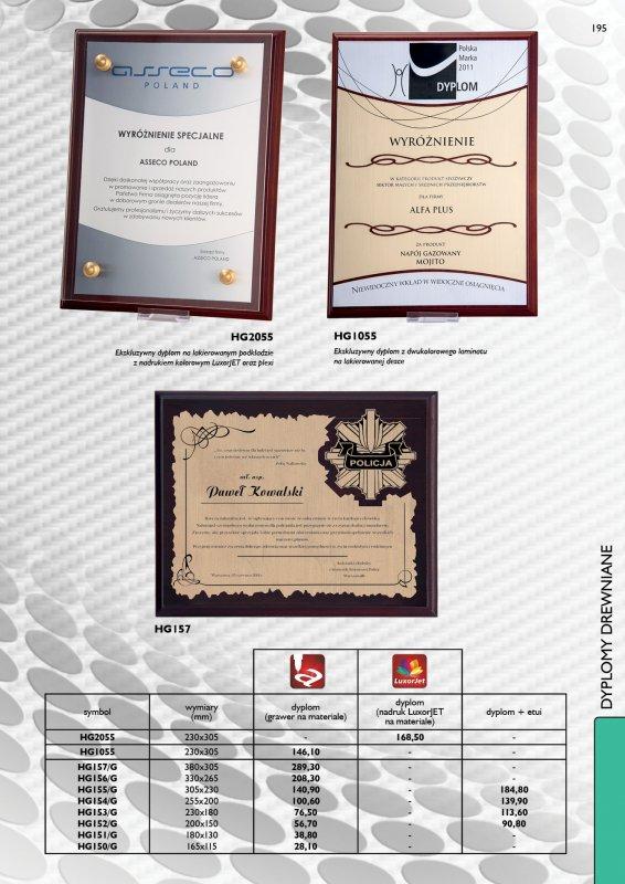 Kupić Dyplom, podziękowanie na drewnie