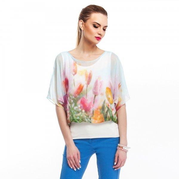 Kupić Szyfonowa bluzka z kwiecistym nadrukiem