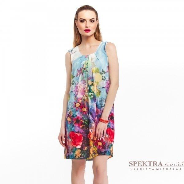 Kupić Zwiewna, szyfonowa sukienka w pastelowe kwiaty