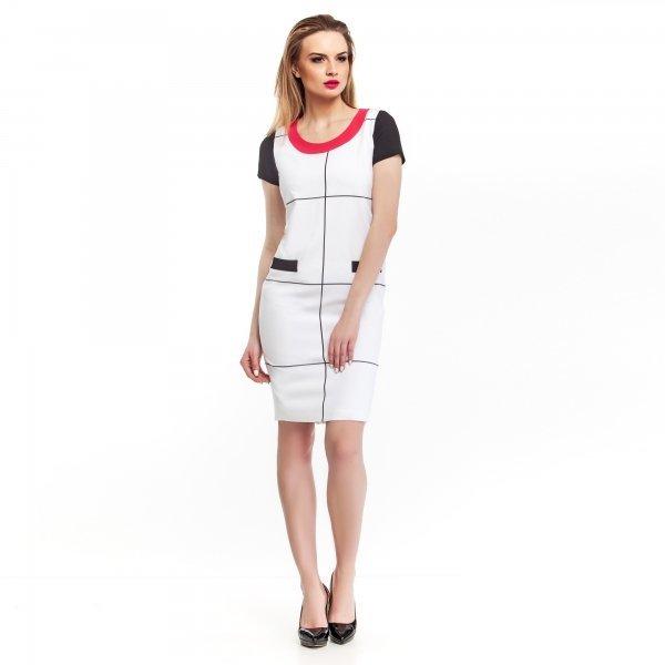 Kupić Uniwersalna sukienka damska w biało-czarną kratę