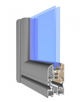 Aluminiowe drzwi harmonijkowe w systemie Allplast Panorama