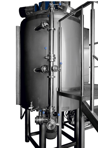 Kupić Stacjonarny przemysłowy mieszalnik homogenizujący ze sterownikiem komputerowym i możliwością chłodzenia lub podgrzewania wsadu.