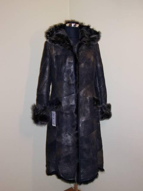 Kupić Płaszcz skórzany damski czarny