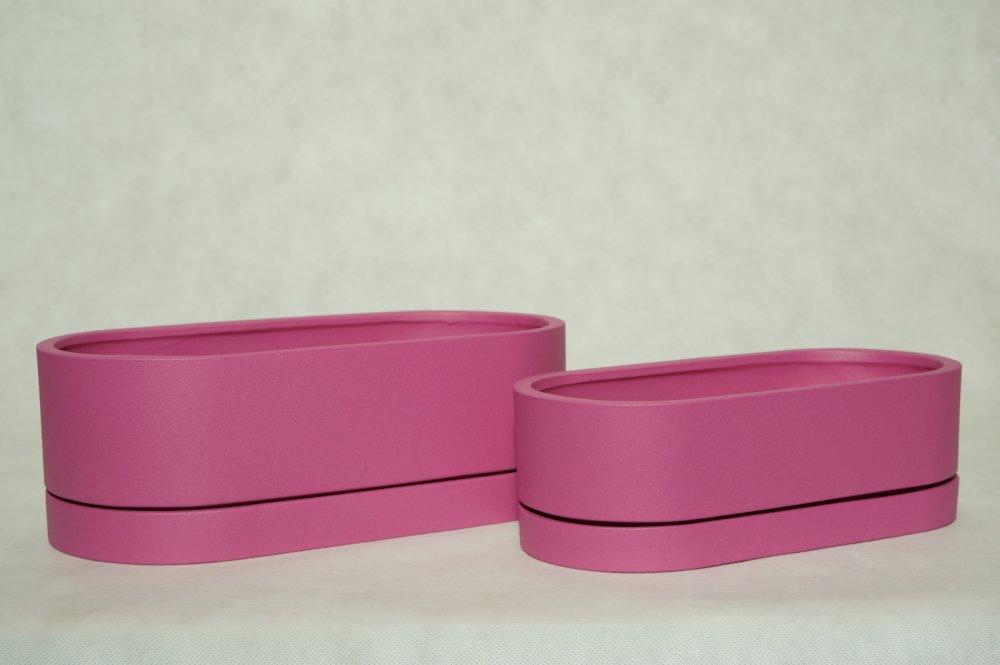 Kupić Donice owalne niskie z matowanej ceramiki