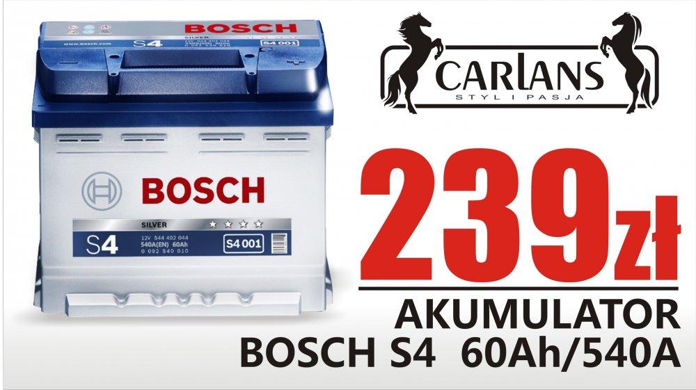 Kupić Akumulator Bosch S4 60Ah/540A akumulator akumulatory Bosch Carlans sklep motoryzacyjny szeroki wybór