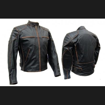 Kupić Profesjonalna kurtka skórzana motocyklowa KSM008