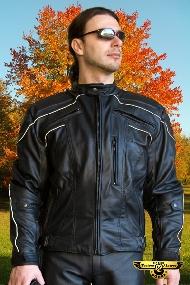 Kupić Kombinezon motocyklowy skórzany męski