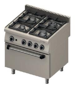 Kupić 4-palnikowa kuchnia gazowa z piekarnikiem elektrycznym