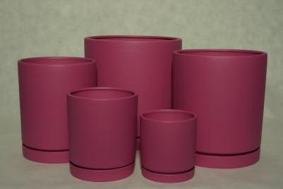 Kupić Doniczki ceramiczne matowe z integralnymi spodkami
