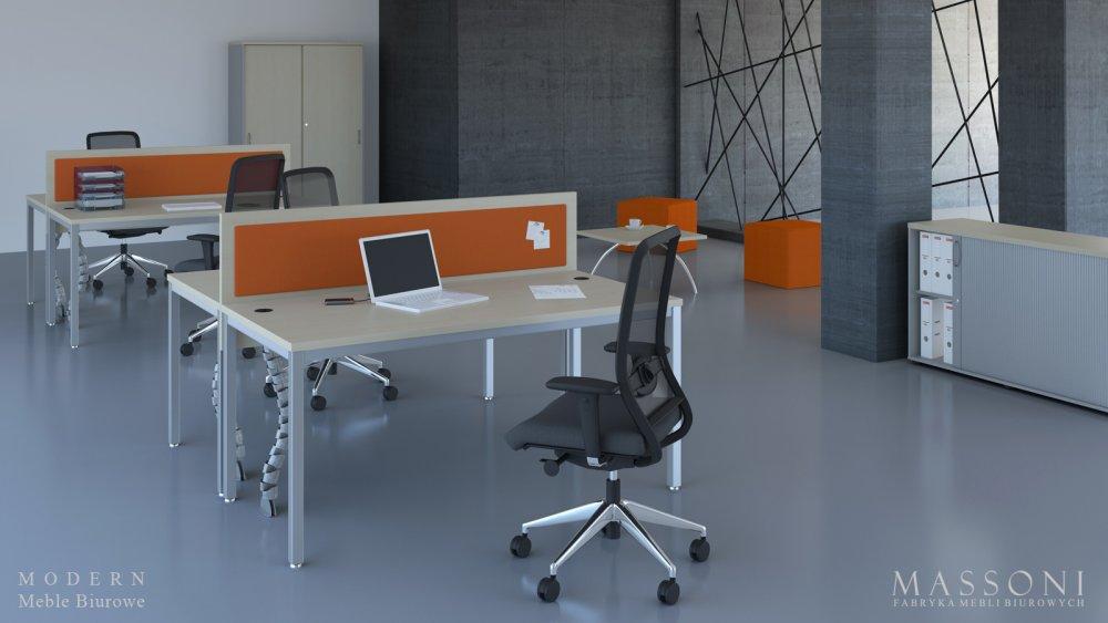 Nowoczesne biurka pracownicze MODERN Massoni