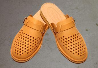Kupić Pantofle ze sprzączką wykonane ze skóry świńskiej, uszlachetnione.