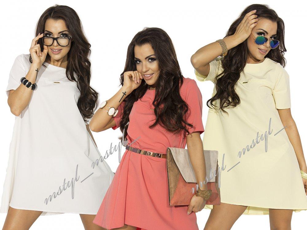 Kupić New elegancka trapezowa sukienka tunika #MM11#
