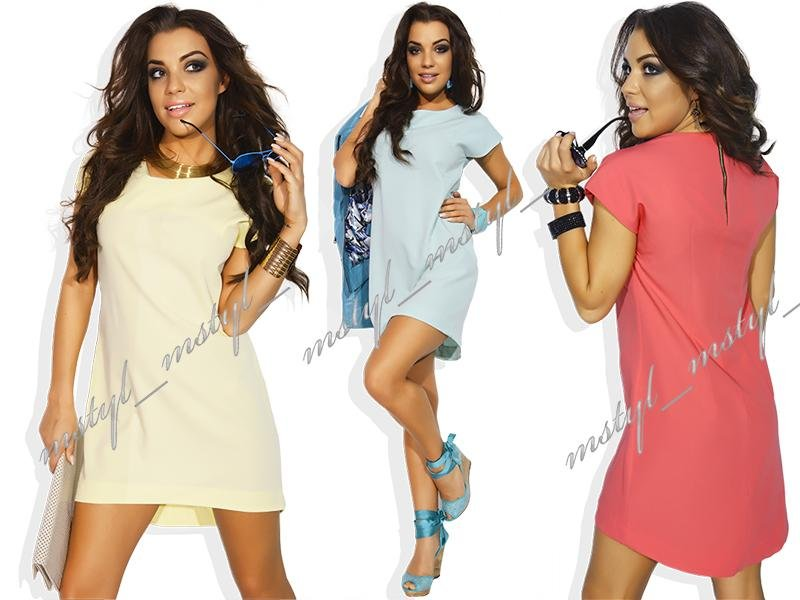 Kupić Zwiewna asymetryczna sukienka tunika #MM16#