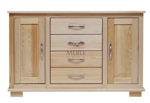 Kupić Komoda wykonana z litego drewna sosnowego, lakierowanego Modern S4