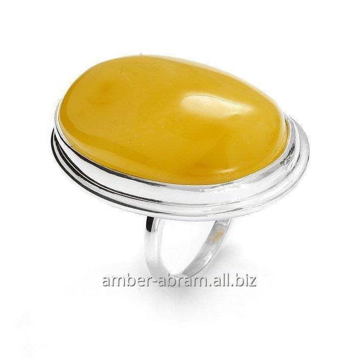 Kupić Pierścionek srebrny z bursztynem, ręczna produkcja