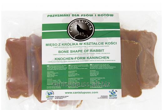 Kupić Smakołyki w kształcie kości dla zwierząt ze skłonnościami do alergii wyprodukowane z mięsa królika