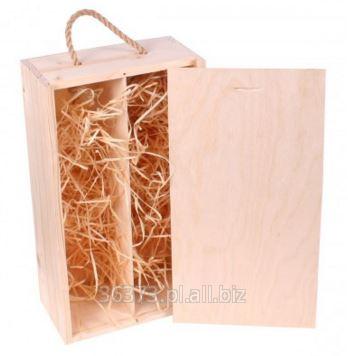 Kupić Drewniana skrzynka na 2 wina