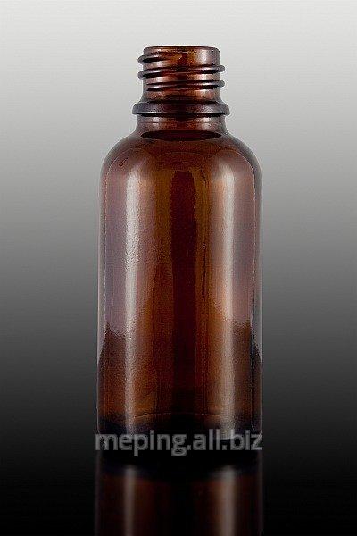 Butelka szklana brązowa