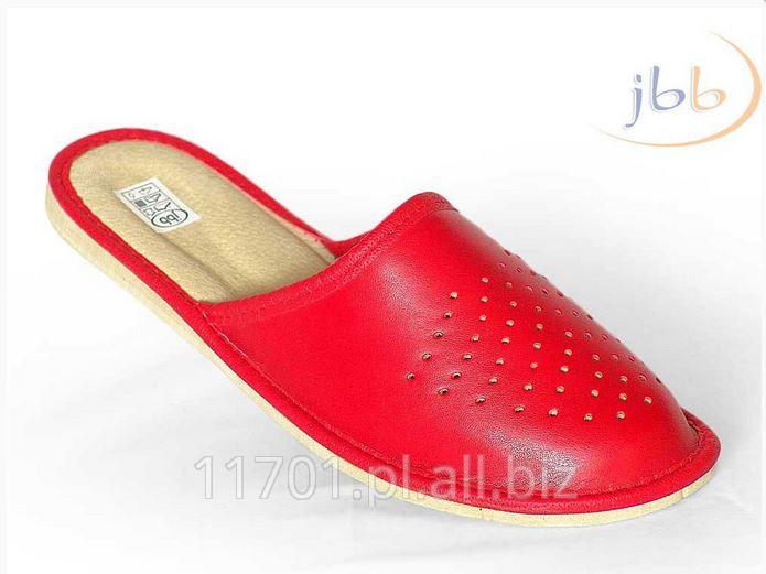 Kupić Oryginalne pantofle pełne damskie ze skóry naturalnej MODEL 002C