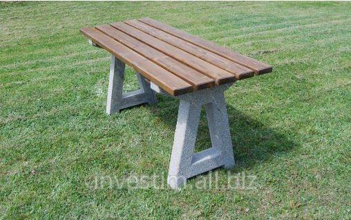 Kupić Stół piknikowy betonowy z drewnianym blatem nr kat. 144