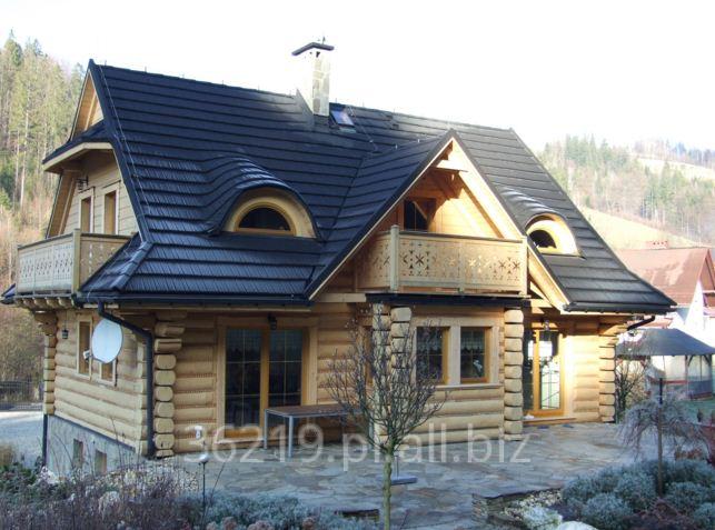 Kupić Domy z bala okrągłego według projektu indywidualnego.