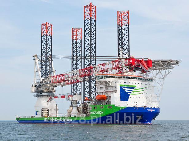 Kupić Statek samo-podnośny to budowy farm wiatrowych na morzu