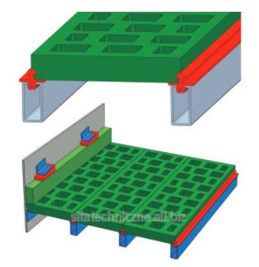 "Kupić Sito poliuretanowe, SPM-s85 (sito poliuretanowe modułowe system ""85"")."