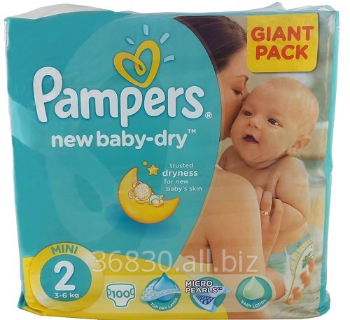 Kupić PAMPERS ACTIVE BABY-DRY, 2 (3-6 KG) GIANT PACK (100 SZT)