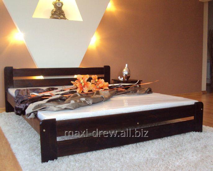 Solidne łóżko sosnowe Eureka dostępne w kilku kolorach i rozmiarach, ze stelażem w komplecie