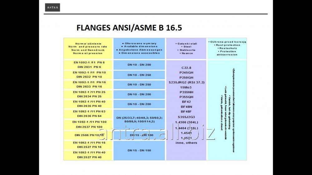 Kupić Kołnierze stalowe ANSI/ASME B16.5