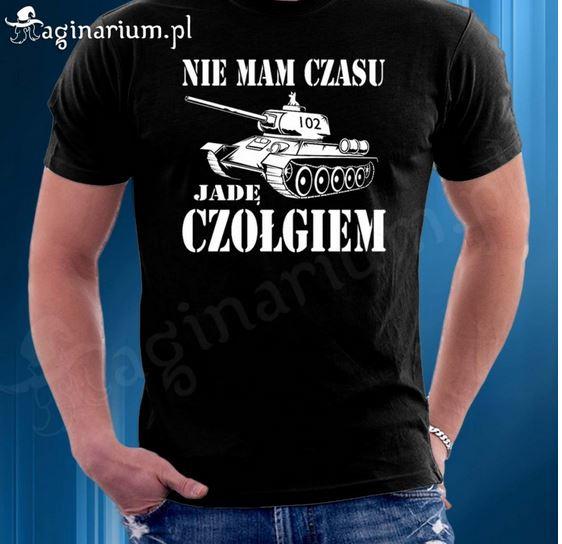 Kupić Koszulka Nie mam czasu jadę czołgiem z Szarikiem