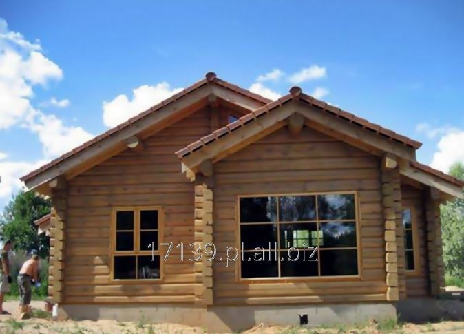 Budowa domów z bali drewnianych według projektu indywidualnego.