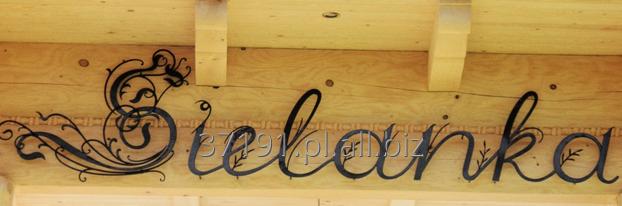 Kupić Kute elementy ozdobne układające się w niepowtarzalny napis lub reklamę.