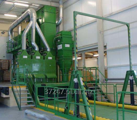 Kupić Linie technologiczne dostosowane do produktów spożywczych na zdjęciu instalacja przyjęcia kawy zielonej.