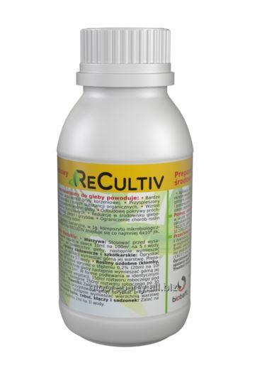 Preparat przywracający równowagę mikrobiologiczną gleby, poprawiający jej żyzność - Recultiv