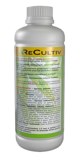 Kupić Preparat poprawiający żyzność gleby, przydatny w ogrodzie - Recultiv