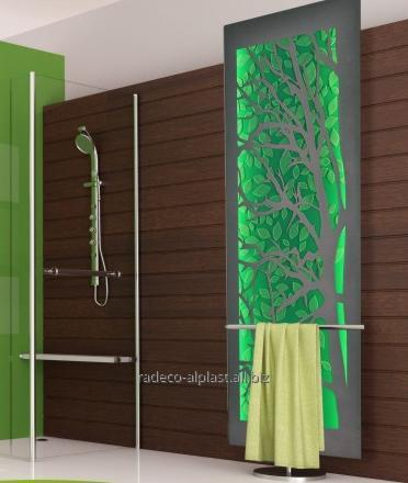 Kupić Grzejnik łazienkowy Albero z panelem szklanym z podświetleniem LED