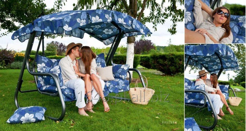 Kupić Huśtawka ogrodowa Ravenna komplet dach , poduszki - rozkładana
