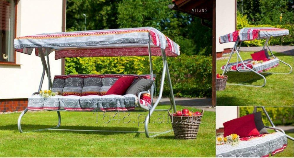 Kupić Huśtawka ogrodowa Milano z kompletem poduszek + dach - rozkładana
